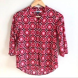Cynthia Rowley 3/4 Sleeve Button Up Blouse